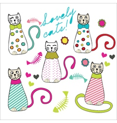 Lovely cats vector image vector image