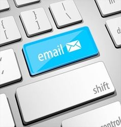 Mail keyboard vector image