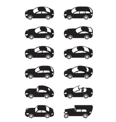 Modern cars from above vector image