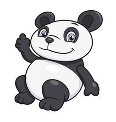 panda waving hand vector image