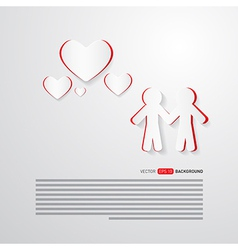 People and Paper Hearts Abstract Background vector image vector image