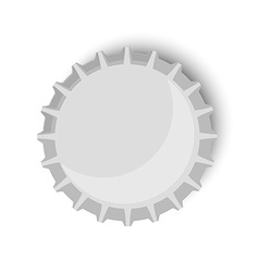 Bottle cap metallic vector