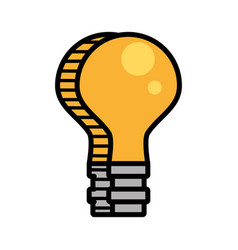 bulb light electricity image vector image