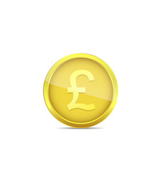 golden pound label vector image