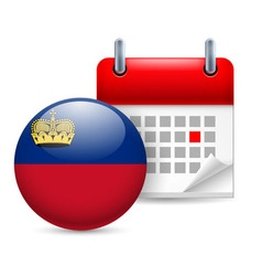 Icon of national day in liechtenstein vector image