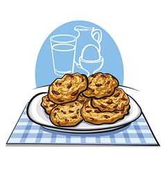 oatmeals cookies vector image vector image