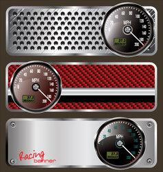 Racing banners vector image vector image
