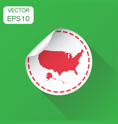 usa sticker map icon business concept america vector image