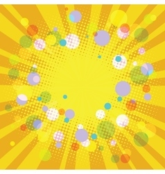 Warm yellow summer festive background vector image vector image