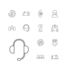 13 support icons vector