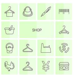 14 shop icons vector