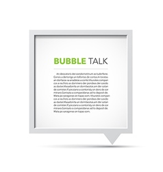 3D bubble talk frame vector