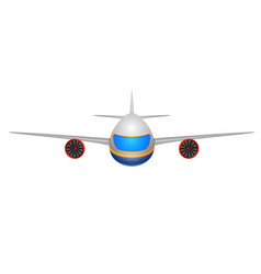 a front view of a plane on a white vector image