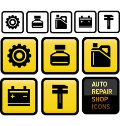 auto repair shop icons vector image