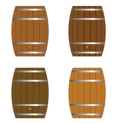 Barrel set vector