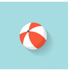 Beach ball flat web icon vector image