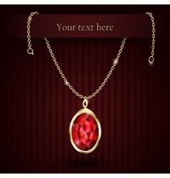 Beautiful gemstone red ruby vector