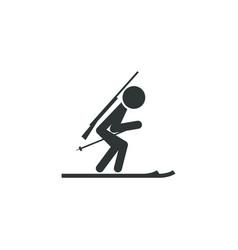 biathlete icon simple sportsman element biathlon vector image