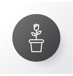 Bloom icon symbol premium quality isolated floret vector