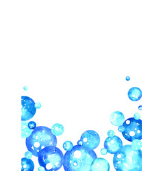 Blue christmas bubble ball decoration watercolor vector
