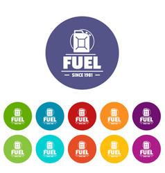 Canister icons set color vector