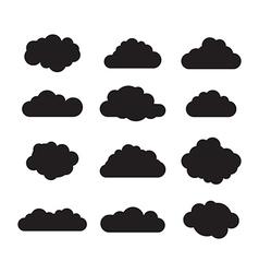 cloud set vector image