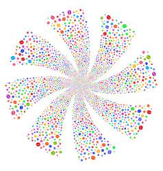 Coffee bean fireworks swirl rotation vector