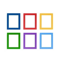 Colored photo frames vector