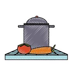 cooking pot illsutrati vector image
