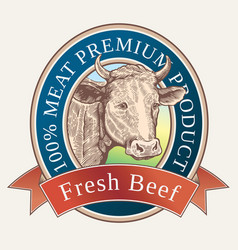 Cow head in label vector
