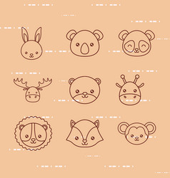 cute animals design vector image