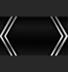 Dark carbon fiber and metal geometric background vector