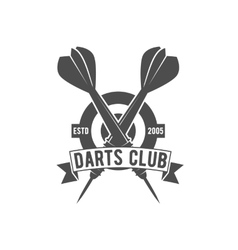 Darts label badge logo vector