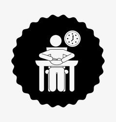 Eating design vector