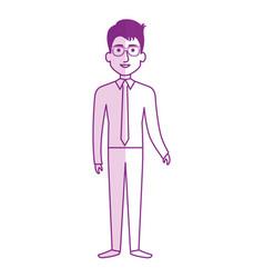 elegant businessman avatar character vector image
