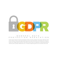 european gdpr concept flyer template vector image