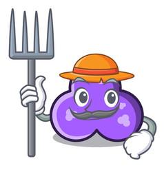 Farmer trefoil character cartoon style vector
