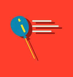 Flat icon design balloon in sticker style vector