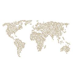global map mosaic of radioactive items vector image