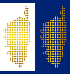 Golden dot corsica france island map vector