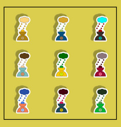 Hail and scales sticker hail weight collection vector