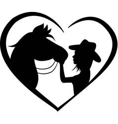 Horse monogram inspirational positive logo vector
