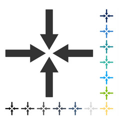Impact arrows icon vector