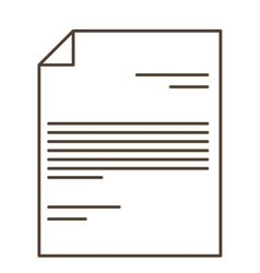 Isolated Piece of paper design vector image