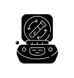 lab centrifuge black glyph icon vector image