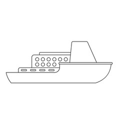 Large ship icon outline style vector
