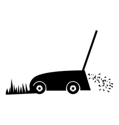 Lawn mower icon image vector