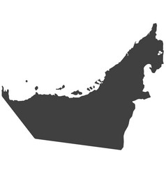 Map of united arab emirates vector
