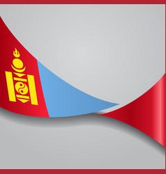 Mongolian wavy flag vector