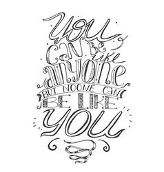 Motivating lettering about self-confidence and vector image